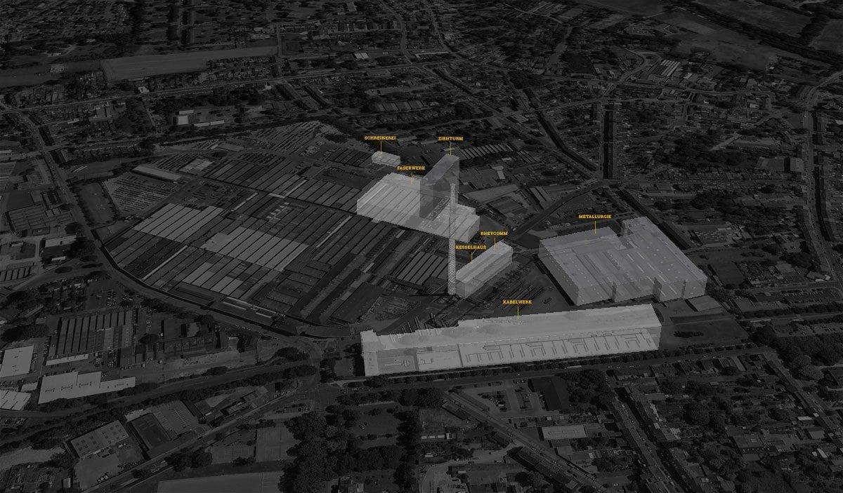 Kabelwerk Mönchengladbach 3D Standort Skizze von Alldesign
