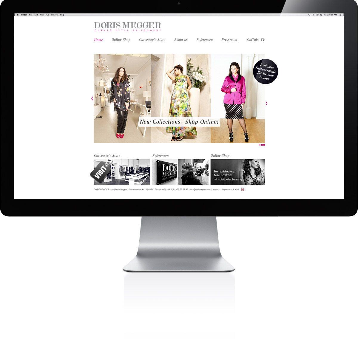 Doris Megger - curvesstyle.com Darstellung auf dem iMac