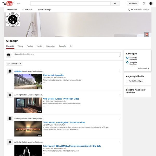 Alldesign Youtube Channel
